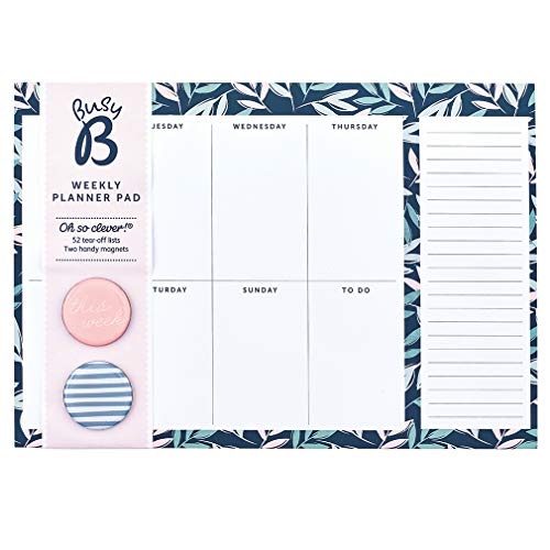 Busy B Weekly Planner Pad - 52 Sheets, Floral