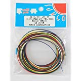 サンコー電商 UL1061 耐熱ビニル絶縁電線 黒白赤黄緑青 各2m AWG30 2m <6色> UL1061 AWG-30 2m X 6色