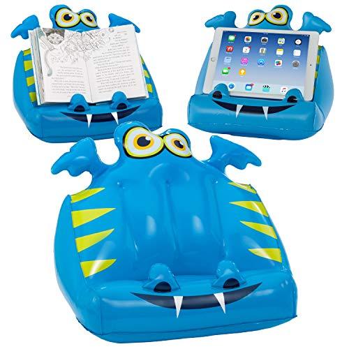 Bookmonster Lucht Opblaasbaar Boek Stand Kinder Lees Rust Tablet eReader Houder Cadeau - Darlie