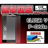 <携帯用保護シール>1.2mから落下しても割れません。ELUGA V P-06D用衝撃吸収液晶保護シール