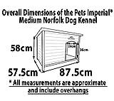 Größe Medium, isolierte Norfolk Hundehütte aus Holz mit entfernbarem Boden zur einfachen Reinigung A - 6