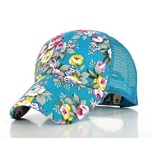 PPSTYLE Nuevas Gorras de béisbol con Estampado Floral Flores Gorras de Hip Hop Snapback Venta al por Mayor Moda Mujer Ocio Gorras de Malla Transpirable de Hueso Plano-3