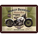 Nostalgic-Art Cartel de Chapa 15x20 -Harley-Davidson Knucklehead