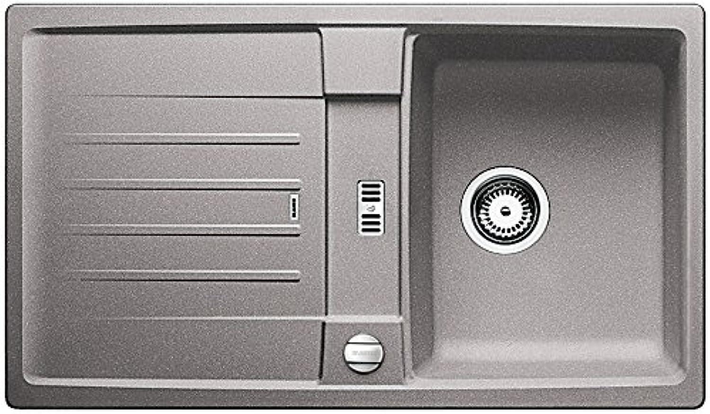 Weiß Lexa 45 S Küchenspüle, Silgranit PuraDur, alumetallic, 514653