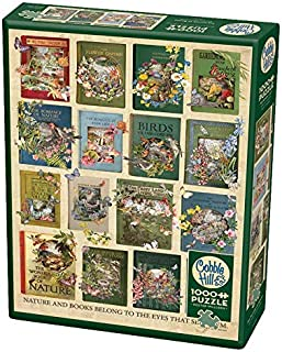 Cobble Hill Puzzles The Nature of Books 1000 Piece Collages & Assortments Jigsaw Puzzle