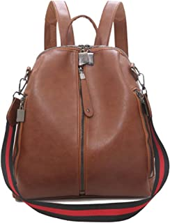 Fashion Cute Women's Backpack, Mini Shoulders Bag, Multifunction Daypack Purse Bag for Girls Lady (Color : Brown, Size : 27 * 12 * 30cm)