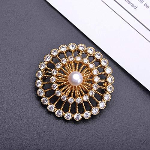 Broches Corsage Feux d'artifice Pull Pleine Lune Broche Accessoires de Mode-d'or
