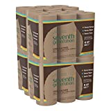 Seventh Generation Unbleached Paper Towels, 100% Recycled Paper, 6 Count, Pack of 4