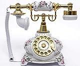 アンティーク電話機 108AS ヨーロッパ風 装飾電話機 回転ダイヤル式 骨董品 クラシック レトロ調