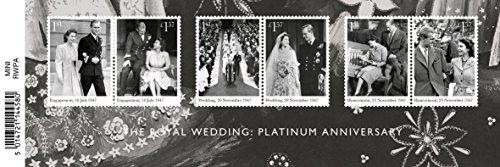 Royal Mail 2017 Anniversario di Platino Matrimonio Reale - Foglio Miniatura Francobolli