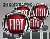 Think Ink Adesivi 3D Stickers 4 Pezzi Logo Imitazione Tutte Le Dimensioni Centro cap Wheel Coprimozzo (50 mm)