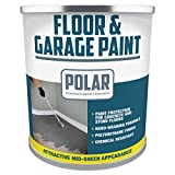 Polar Heavy Duty Garage Floor Paint Light Grey for Concrete and Stone Floors, High Performance Paint Protection, Hard Wearing Mid-Sheen Finish and Slip Resistant, Light Grey - 5 Litre