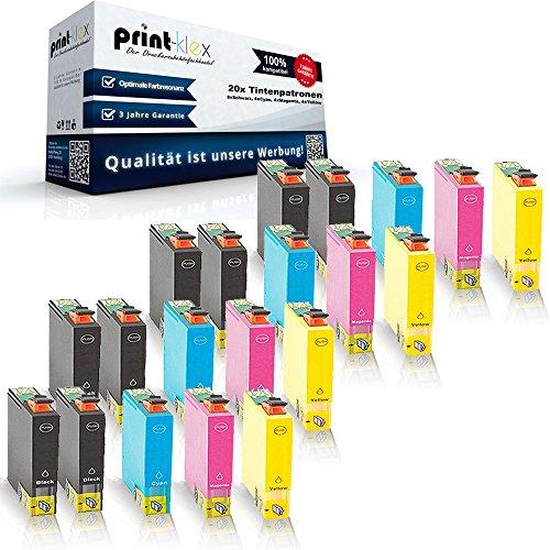 20x Kompatible Tintenpatronen für Epson Stylus SX 430 W Stylus SX 435 W Stylus SX438 W Stylus SX 440 Series T1291 T1292 T1293 T1294 - Premium Smart Serie