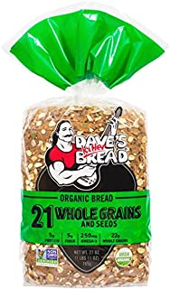 Dave's Killer Bread Organic 21 Whole Grains and Seeds 20.5 oz (Pack of 2)