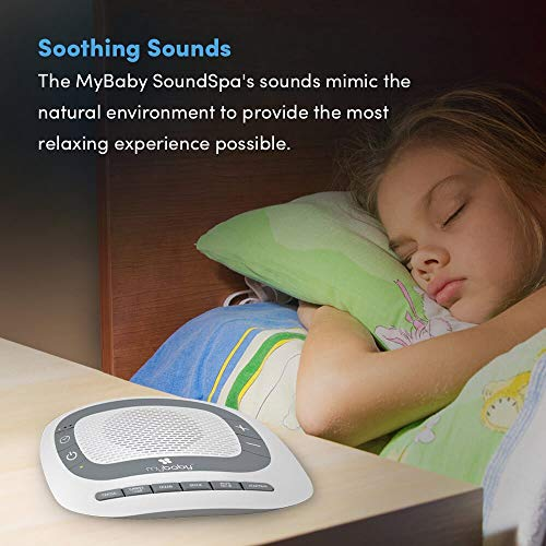 White Noise Machine for Babies | 6 Soothing Lullabies for Newborns, Sound Therapy for Travel, Relaxing, Kids, Newborns, Toddlers | Baby Songs, Adjustable Volume, Auto-off Timer | MyBaby SoundSpa