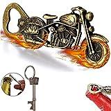 Bier geschenke für männer, Vintage Motorrad Flaschenöffner, Bieröffner, Bier Flaschenöffner,Vatertag Geschenke, Motorrad Liebhaber Geschenke, mit 1 Einzigartiges schlüsselanhänger flaschenöffner