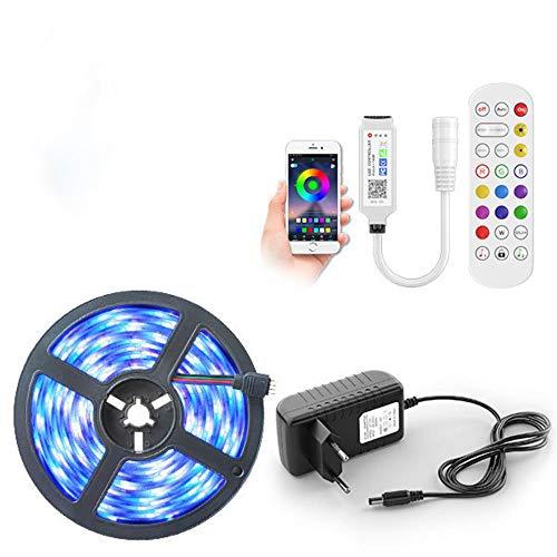 Tira de luces LED 5050 Impermeable RGB DC 12V Tira de LED Tira de LED con cinta adhesiva flexible