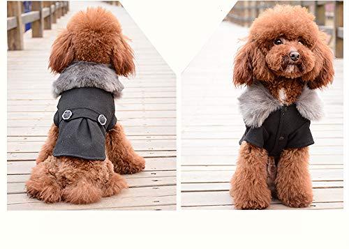RC GearPro Winter Warm Wollen Jas Fleece Hond Winter Jumpsuit Hooded, Wollen Huisdier Kleding voor Hond Jassen Jurk, M, Zwart