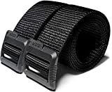 CQR Tactical Belt, Military Style Heavy Duty Belt, Nylon Webbing EDC Quick-Release Buckle, Plastic Flip Tab(mzt01) - Brown, XL[w40-42]