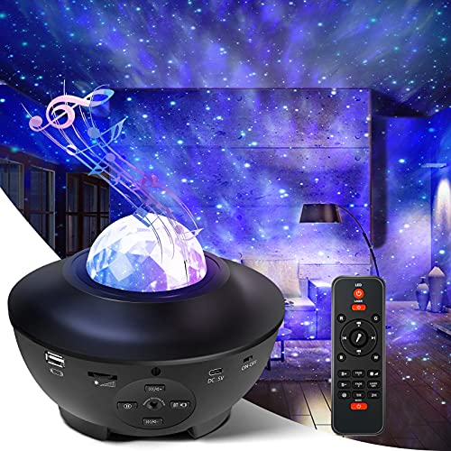 Star Light Projector, Liwarace Galaxy Light Projector with Ocean Wave,Music Speaker,Remote Control,Adjustable Brightness, Night Light Projector for Girls Bedroom Home Theatre -  FL-9050039