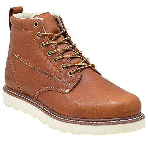 Golden Fox Men's Plain Toe Work Boots Lightweight (11 D(M) US, Brunn)