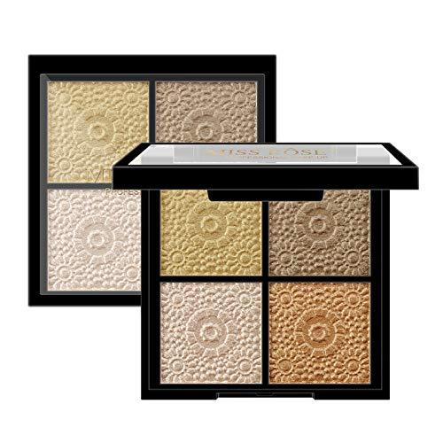 Wxhkj Lidschatten Palette, 1 Set 4 Farben Eyeshadow Palette lang persistent Glitter Shimmer natürliche Make-up Palette Lidschatten für Party, Freizeit