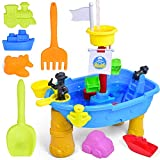 FUN LITTLE TOYS Water Table Beach Toys Water Table for Toddlers Age 3-5 Sand Table Sand Toys Outdoor Toys for Toddlers