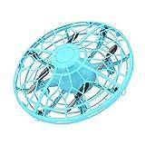 bansd Juguete de avión de inducción de ovnis Juguete de avión de inducción de Gesto de inducción Flotante Azul