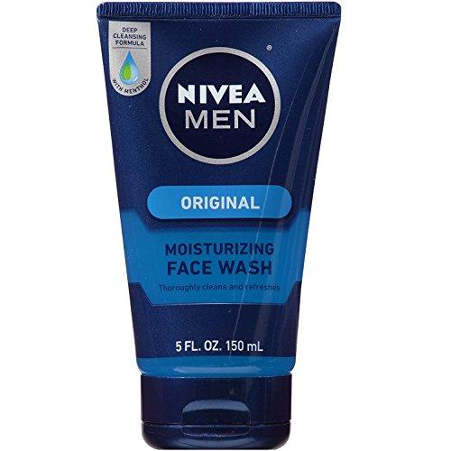 NIVEA FOR MEN Original Moisturizing Face Wash 5 oz (Pack of 6)