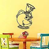Geiqianjiumai Süße Teetasse Café süße Wandaufkleber Küche Wanddekoration Restaurant Wurm Vinyl...