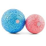 enducore Massageball Set inkl. Anleitung - Zwei Faszien-Bälle mit 8cm & 10cm Durchmesser - für punktuelle Triggerpunkt-Therapie und Selbstmassage von Muskeln und Bindegewebe