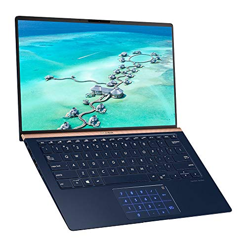 ASUS ZenBook UX433FA-A5128T 13.3 Inch Full HD 4-Way NanoEdge Screen (Intel i7-8565 Processor, 8 GB Memory, 512 GB PCI-e SSD, Harman Kardon Speakers, Windows 10) - Royal Blue Metal