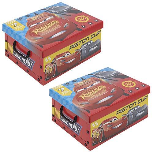 ENFANTS Disney Toy Embouts pour petits objets Boîte de rangement Set of 2 Cars 3
