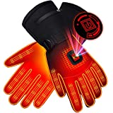 SPRING Heated Gloves,Electric Rechargeable Battery Power Waterproof Touchscreen Heated Gloves for Men Women, 3 Heating Temperature Adjustable Thermal Gloves for Skiing Hunting Fishing Camping Cycling