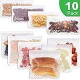 Bolsas Reutilizables para Almacenamiento de Alimentos, Bolsa Bocadillos Sándwich Merienda Porta Snacks, Bolsas de Conservación Congelador Ecológica y Reutilizable sin BPA