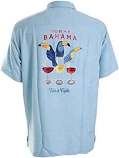 Tommy Bahama Embroidered Take a Flight Silk Camp Shirt
