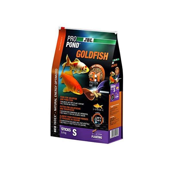 JBL Futter für Gold- und Teichfische, Schwimmende Futtersticks, Funktionsfutter, ProPondGoldfish