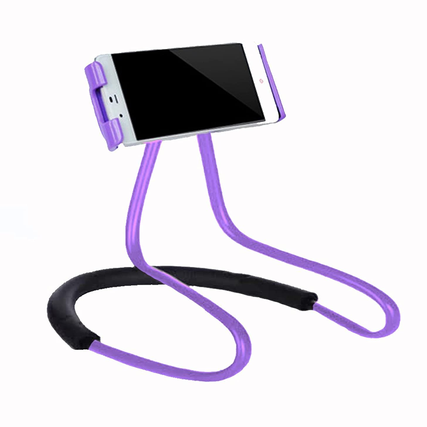 Lazy Cell Phone Holder - Universal Phone Holder to Wear Around neck Lazy Bracket Free Rotating Smart Mobile Phone Mount Stand