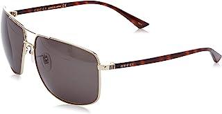 Men 0065SK 66 Gold/Green Sunglasses 66mm