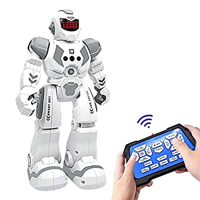 RC Robot Toy, WEEFEESTAR Robotic Toy for Kids, Remote Control Programmable Robot Toys Gesture Sensing Early Educational Interactive Toys Birthday Gift