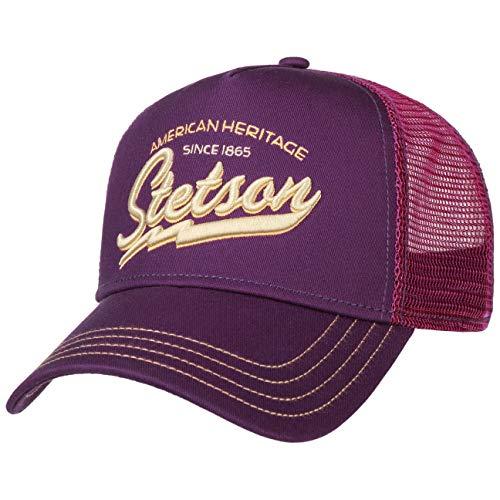 Stetson Cappellino Trucker Since 1865 Uomo - Snapback Berretto Baseball cap Snapback, con Visiera, Visiera Estate/Inverno - Taglia Unica Lilla