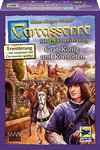カルカソンヌ:川と王様と礼拝堂 拡張セット6 (2017年版) Carcassonne Erweiterung 6: Graf, Konig & Konsorten (2017 Edition) [並行輸入品]