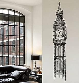 Ik2413 Wall Decal Sticker Big Ben Clock Tower London Living Room Bedroom