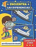ENCUENTRA LAS DIFERENCIAS: libro de juegos para niños   a partir de 4 años   + 320 diferencias   busca y encuentra   40 páginas en color   idea de regalo niña y niño