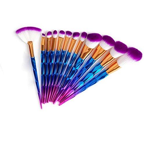 1 Cent Artikel 20 Stück Makeup Pinsel Set, Yogogo Make up Pinsel Tools Make up Körperpflege Set Wolle (Lila 1)
