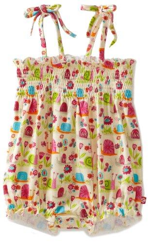 Zutano Baby-girls Infant Garden Snail Bubble Bodysuit, Cream, 6 Months