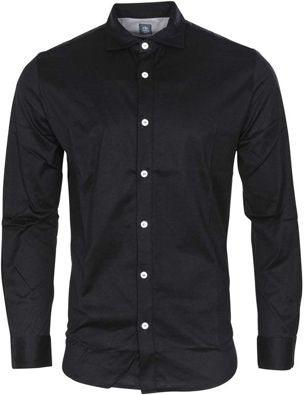 7866fbb0615e8 Eleventy Shirt Men's Black Cotton Slim Fit Casual Casual Casual Shirt  Casual XXL e37def