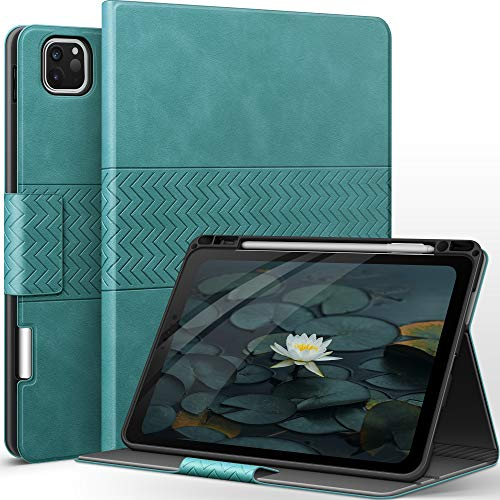 AUAUA Custodia per iPad Pro 11 2020 & 2018 – con portapenne Apple in pelle PU, funzione Sleep/Wake, Smart Cover per iPad Pro 11, 1st 2018/2nd Generation 2020 (Verde)