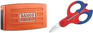 Bahco SL25 JGO.Llaves DE Vaso 1/4, 0 W, 0 V, multicolor, 10.2 cm, Set de 25 Piezas + Knipex 95 05 155 SB Tijeras de Electricista, Multicolor, 15.5 cm