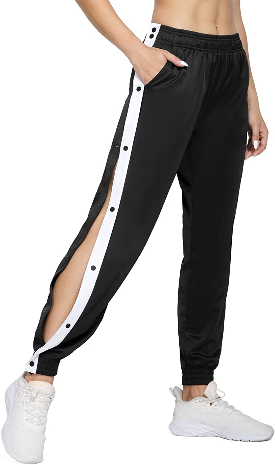 BALEAF Women's Tear Away Warm Up Pants Tapered Seasonal Wrap Introduction Active Save money Sw Workout